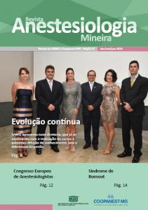 Capa da Revista Anestesiologia Mineira de junho de 2018