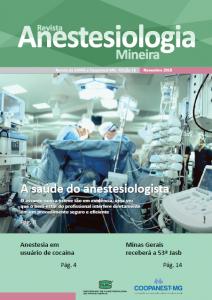 Capa da Revista Anestesiologia Mineira de novembro de 2018