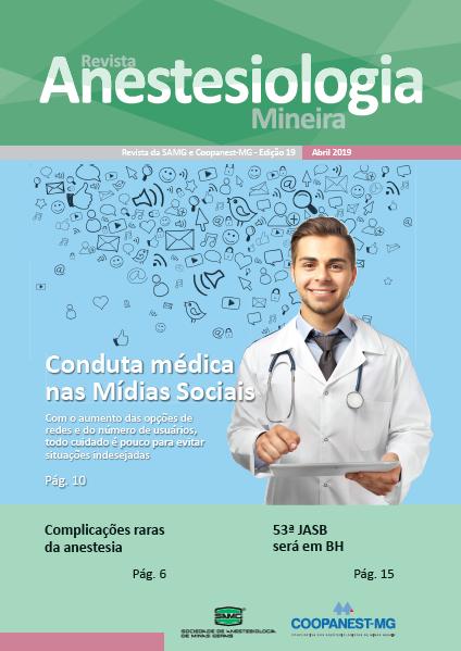 Capa da Revista Anestesiologia Mineira de abril de 2019